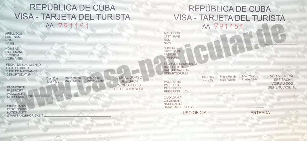 Kuba Visum